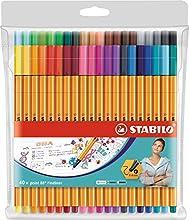 Rotulador punta fina STABILO point 88 - Estuche con 40 colores