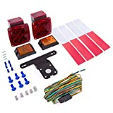#4: 12V LED Trailer Light Kit by Wellmax   Utility bulbs for easy assembly   Attachable tail lights for: RV, bike, boat, trailer + for all outdoor terrains   DOT compliant