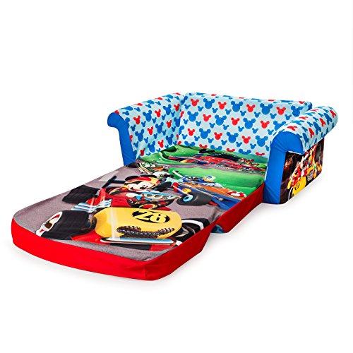 51aTjJf9eGL - Marshmallow Furniture - Children's 2 in 1 Flip Open Foam Sofa, Disney Mickey Mouse Roadsters Flip Open Sofa