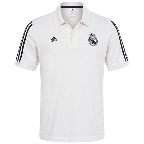 adidas Real Madrid Original Beige Equipo de fútbol Polo Camisa de ...