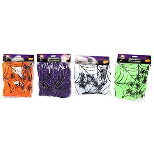 Partyrama Halloween Spider Webs Assorted Colours Single -