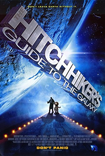 The Hitchhiker's Guide to the Galaxy Poster Movie Martin Freeman Mos Def Sam Rockwell