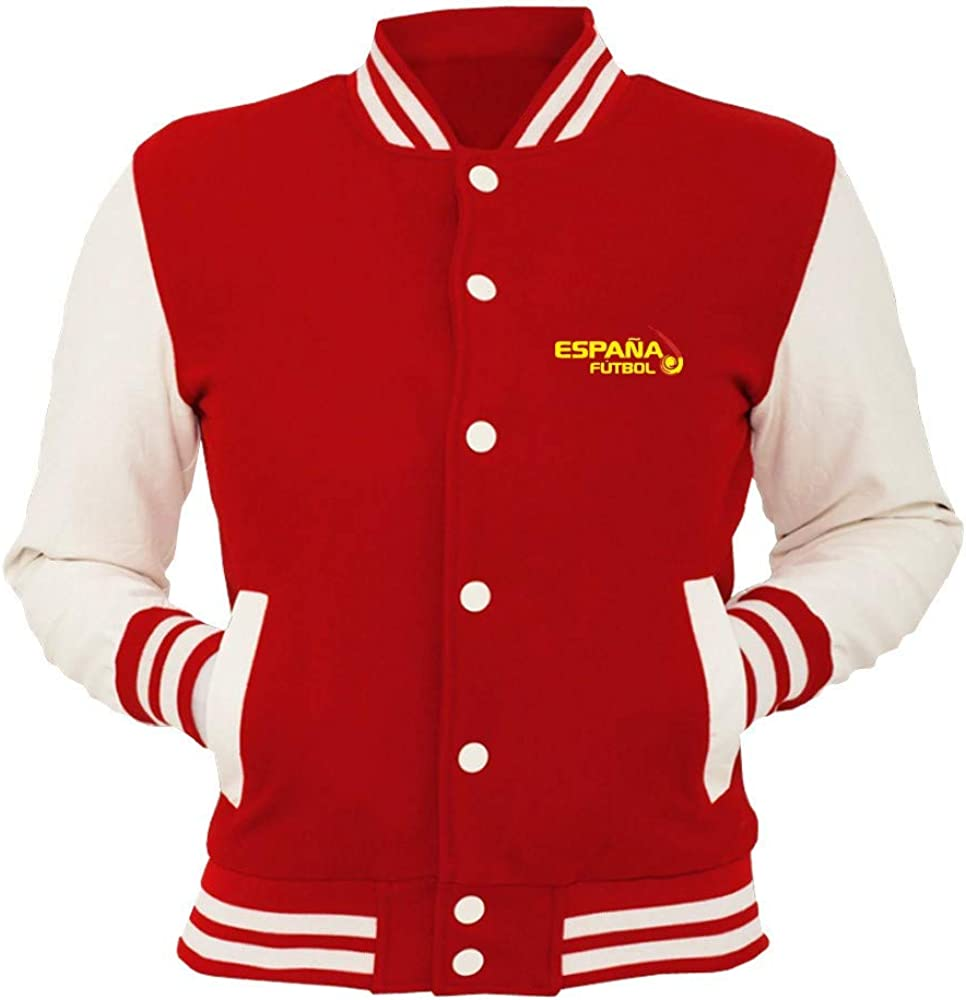 Speed Shirt College Jacket Red WC0109 Espana Spagna España - Chaqueta de Trabajo Rojo Rosso L: Amazon.es: Ropa y accesorios