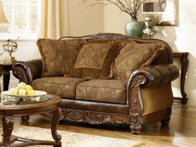 Admirable Fresco Durablend Antique Loveseat Home Remodeling Inspirations Basidirectenergyitoicom