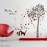 nemo window decals - Smartcoco DIY Creative Couple Cats Love Tree Wall Sticker Removable Wall Decals Kid Room Living Room Bedroom Decors