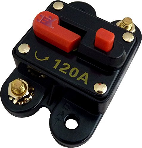 Jex Electronics 120 Amp In-Line Circuit Breaker Stereo/Audio/Car/RV 120A/120AMP Fuse (120a Circuit Breaker)