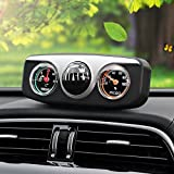 Gold Happy 3 in1 Guide Ball Auto Boat Vehicles Navigation Compass Thermometer Hygrometer Decoration Ornaments Car Interior Accessories