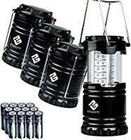 Etekcity Camping Lantern 4 Pack with Batteries