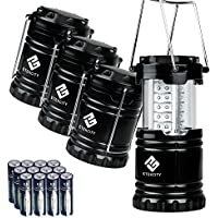 Etekcity 4 Pack Portable LED Camping Lantern with 12 AA...