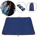 TOP-MAX Multifunction Camping Tarp, Waterproof Folded Bag Lightweight Waterproof Tarpaulin for Camping Blanket Beach Picnic Mat,Hiking (blue)
