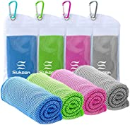 """KUEN [4 Pack] Cooling Towel (40""""x12""""), Ice Towel, Soft Breathable Chilly Towel, Microfiber Towel for"""