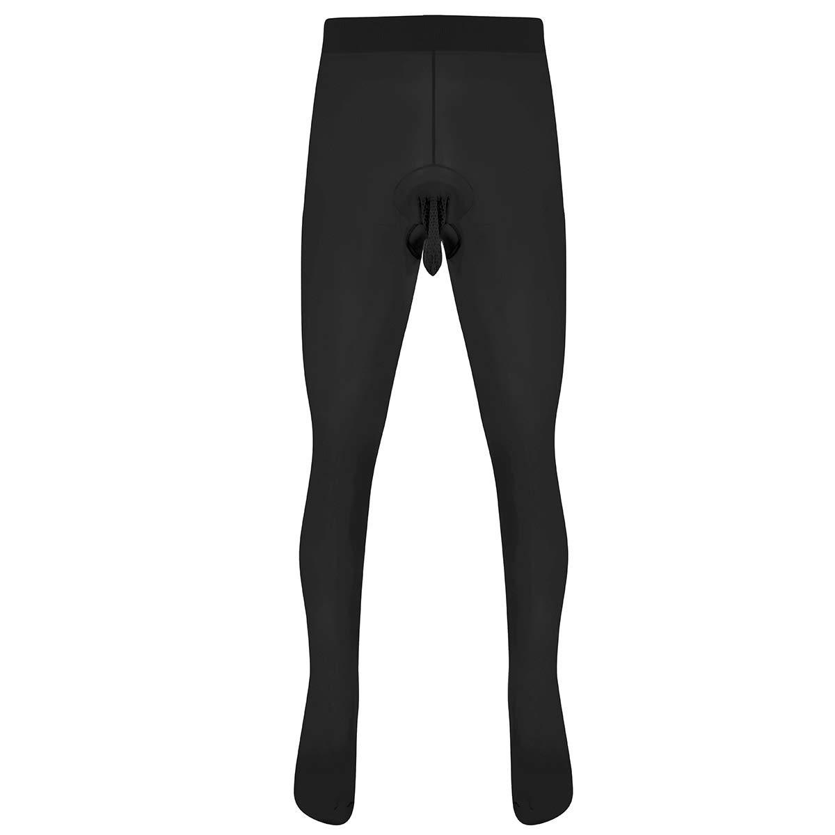 Freebily Men's Sexy Seamless Skinny Stretchy Leggings Tights Underwear Pantyhose Hosiery Stockings CH10066452-10066450-UK