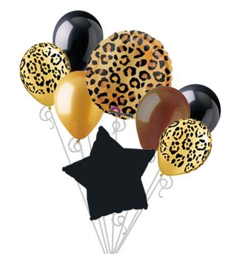 Cheetah Print Balloon Bouquet Set Party Decoration 8pc -