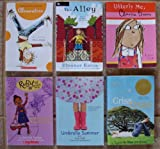 img - for Chapter Books for Girls: Set of 6 - Ages 8-11 (Clementine ~ The Alley (by Newbery Medal-Winning Author Eleanor Estes) ~ Umbrella Summer ~ Criss Cross (Newbery Medal Winner) ~ Ruby and the Booker Boys: Brand-New School, Brave New Ruby ~ Utterly Me, Clarice Bean) book / textbook / text book