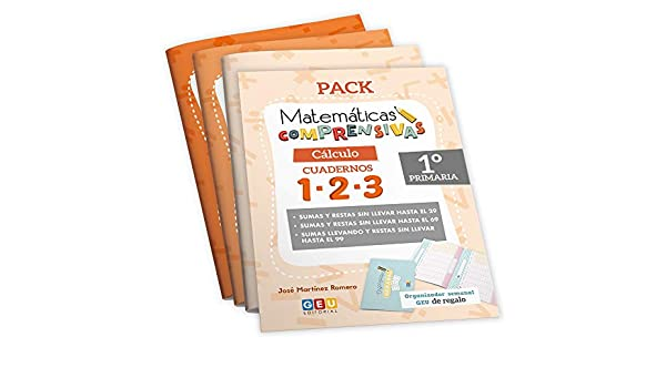Pack Matemáticas Comprensivas 1º PRIMARIA: Cuadernos Repaso CÁLCULO | EDITORIAL GEU Niños de 5 a 7 años: Amazon.es: josé Martínez Romero: Libros