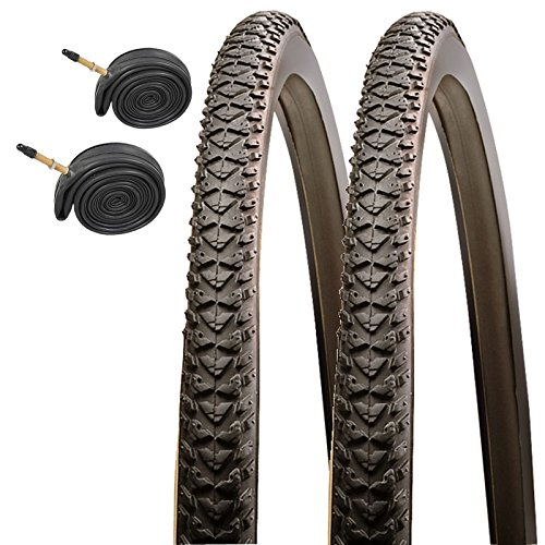 CST Raleigh T1533 Pioneer 700 x 35c Hybrid Bike Tires with Presta Tubes (Pair)