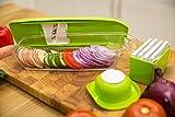 B. WEISS mandoline slicer Cuts Fruits & Vegetables, Straight & Julienne-Vegetable Slicer - Food Slicer - Vegetable Cutter with 5 Interchangeable Blades