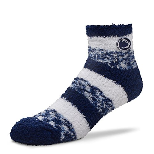 For Bare Feet NCAA RMC Pro Stripe Fuzzy Sleep Soft Sock -Penn State Nittany (Penn State Nittany Lions Couch)