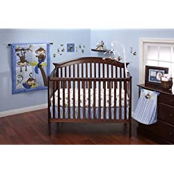 Little Bedding by NoJo 3 Little Monkeys 10 Piece Crib Bedding Set, Boy