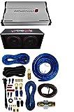 Cerwin Vega 2400W Dual Car Audio Subwoofer With Box Enclosure +Amp Kit Package