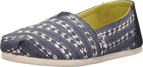 TOMS Women's Seasonal Classics Navy Batik Stripe Loafer