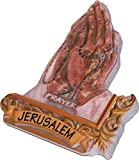 Praying hands with Rosary 3-D colored ceramic magnet ( 7 x 5.5 cm OR 2.8 x 2.2 Inches )