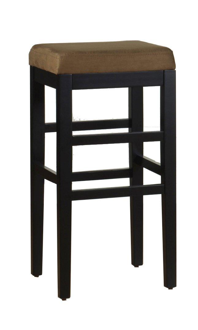 Armen Living LCSTBAMFBE26 Sonata 26 Counter Height Barstool in Beige and Black Wood Finish Armen Living DROPSHIP