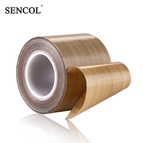 PTFE Coated Fiberglass Telfon Tape,high temperature tape;drying mechanical conveyor belt; welding sealing tape; 48mm x 12Yards x 0.16mm; -196℃ - +300℃