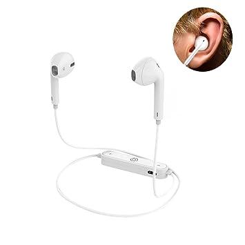 Auriculares inalámbricos Bluetooth S6. Para deportes, impermeable, con cancelación de ruido. Compatibles con Apple / Samsung / Meizu / iPad negro: ...