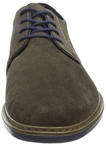 Rieker 17622 - zapatos con cordones de cuero hombre gris - Grau (asche/navy / 42)