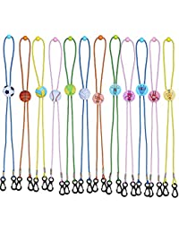 12 Pack Adjustable Length Face Mask Lanyard Chain Strap Holder for Women Kids Holder Comfortable Around The Neck
