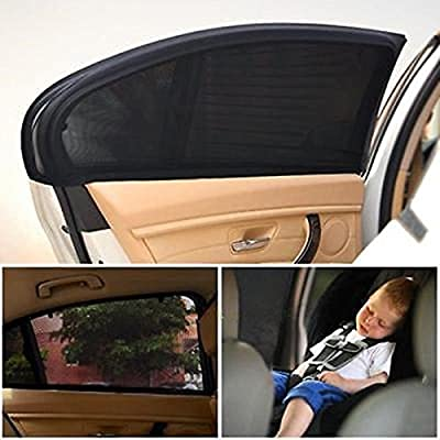 AMAZZANG-2 x Car Side Rear Window Sun Visor Shade Mesh Cover Shield Sunshade UV Protector
