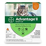 Bayer Advantage II Flea Prevention for Small Cats, 5-9 lbs, 2-pack (2 dose)