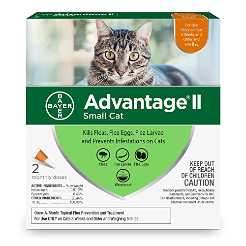 Bayer Animal Health Advantage II Flea prevention for Small Cats - 5-9 lbs - 2-pack (2 dose)