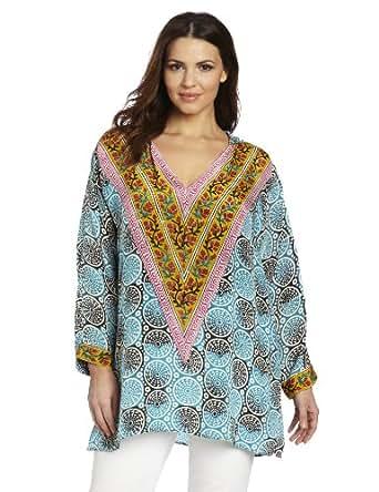 Tolani Women's Plus-Size Katrina Shirts, Cylinders, 2X