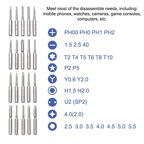 36 in 1 Magnetic Precision Screwdriver Set, Preciva Multi-functional Electronics Precision Telephone Repair Tool Kit…