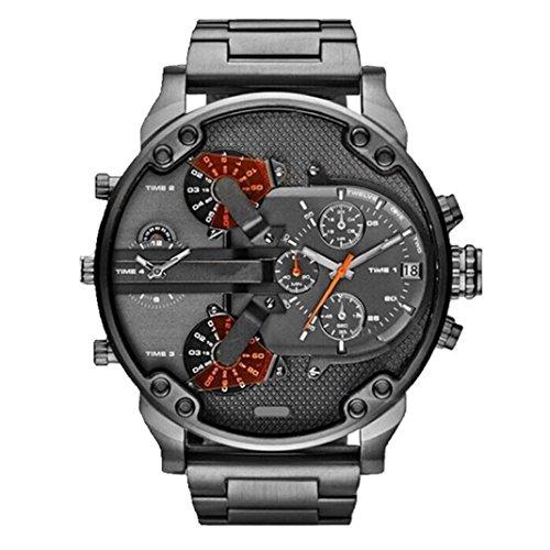 In Stock ! Goddessvan Men's Analog Quartz Wrist watch Fashion Luxury Stainless Steel Watch Sport