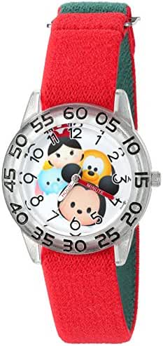 Disney Mickey Mouse Kids' W003010 Mickey Mouse Analog Display Analog Quartz Red Watch