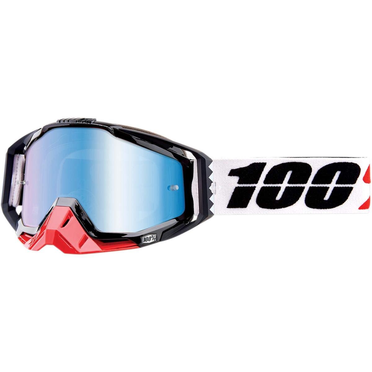 100/% Racecraft Goggles Mirrored Lens MARIGOT//BLUE LENS