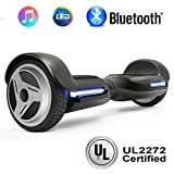 """NHT 6.5"""" Wheel Hoverboard Electric Smart Self Balancing Scooter with Bluetooth Speaker - UL2272 Certified, Black/Blue/Pink/Red/White (G1 Black)"""