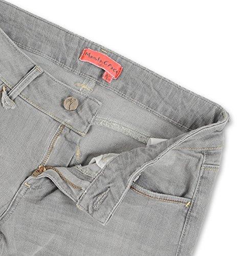 Manila Grace Street Damen J06710MG999 Grau Baumwolle Jeans
