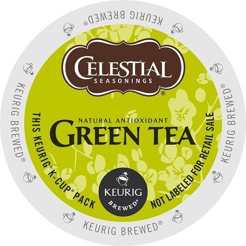 Celestial Natural Antioxidant Green Tea, Single Serve Tea K-Cups, 48-Count For Brewers