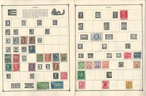 Caribbean Island Stamp Collection on 12 Scott Album Pages To 1981