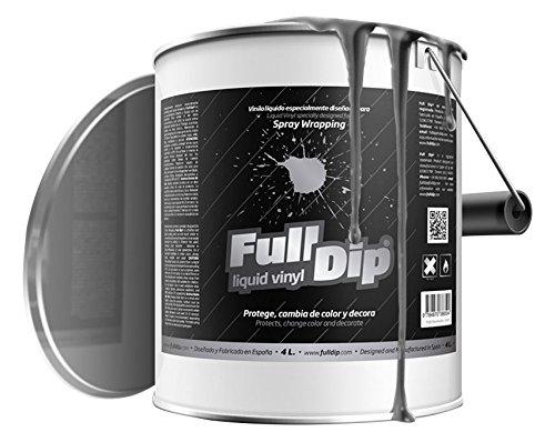 FullDip FLD4L29 Vinilo Lí quido, Negro Metalizado, 4 litros Químicas Vila Hervás S.L