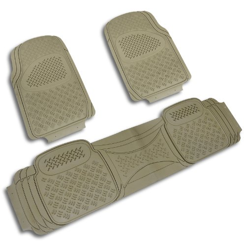 Spec-D MAT-3001BGE Beige All Weather Floor Mats 3pcs (2007 Tahoe Floor Mats Oem compare prices)