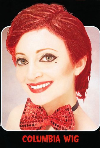 Rocky Horror Columbia Wig (Short Red Columbia Style Wig Rocky Horror Show Devil Halloween Fancy Dress by Home & Leisure Online)