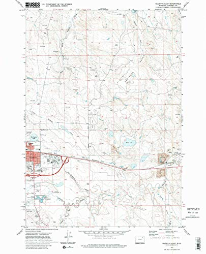 YellowMaps Gillette East WY topo map, 1:24000 Scale, 7.5 X 7.5 Minute, Historical, 1971, Updated 1980, 26.8 x 21.7 in - Paper