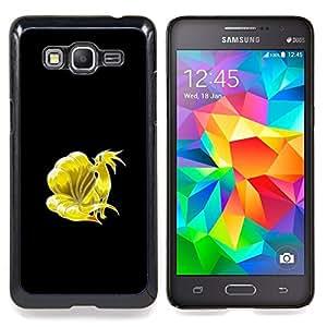 """Meter Monster oro Fox"""" - Metal de aluminio y de plástico duro Caja del teléfono - Negro - Samsung Galaxy Grand Prime G530F G530FZ G530Y G530H G530FZ/DS"""