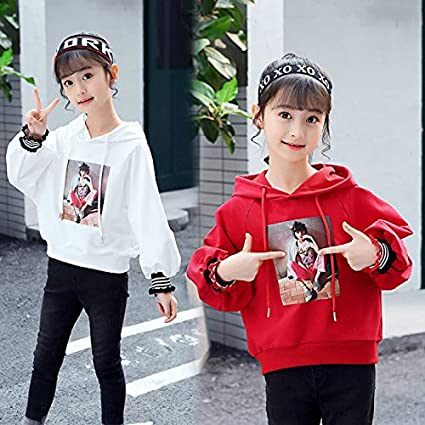 MV Childrens Clothing Girls Autumn Printing Bottoming Shirt Comfortable Sweater