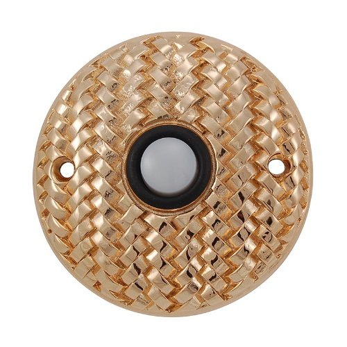 (Vicenza Designs D4010 Cestino Round Style Doorbell, Polished Gold)